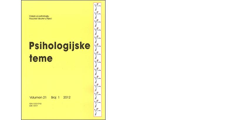 Psihologijske teme – 21/2012