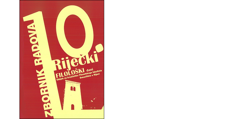 L. Badurina (ur.) </br>RIJEČKI FILOLOŠKI DANI 10:</BR> Zbornik radova s Desetoga znanstvenog skupa s međunarodnim sudjelovanjem održanoga u Rijeci od 27. do 29. studenoga 2014.